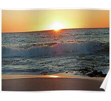 Beach Sunset, Western Australia Poster