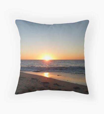 Beach Sunset, Mandurah...Western Australia Throw Pillow