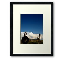 Wire and White Framed Print