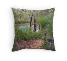 Bushland, high in the hills. Throw Pillow