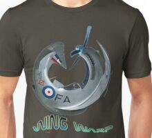 Mustang Fighter Wing Warp T-shirt Design Unisex T-Shirt