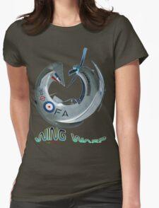 Mustang Fighter Wing Warp T-shirt Design Womens Fitted T-Shirt