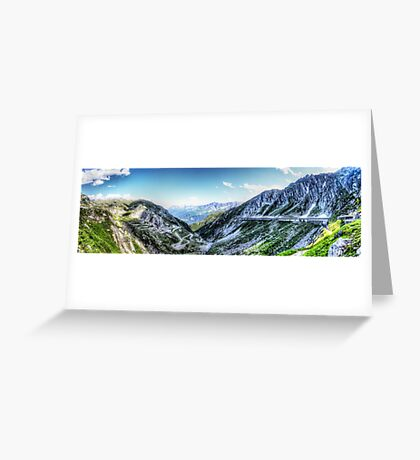 Gotthard Elbows Revisted - The HDR Panorama Greeting Card