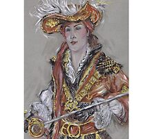 The Feathered Hat or El Sombrero Con Plumas by Jill Bennett