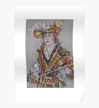 The Feathered Hat or El Sombrero Con Plumas Poster