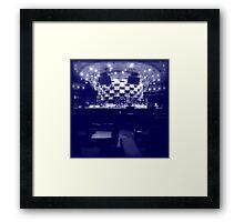 The Blue Cafe Framed Print
