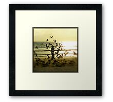 On The Beach Framed Print