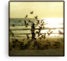 On The Beach Canvas Print