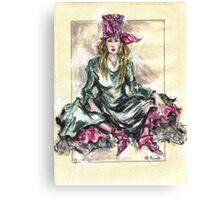 Girl Sitting or Chica Sentada Canvas Print