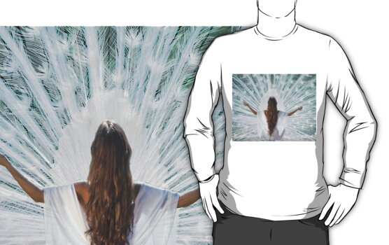 White meditation T by MaureenTillman