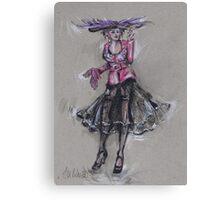 The Hat with Purple Feathers or El Sombrero Con Plumas Violetas Canvas Print