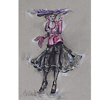 The Hat with Purple Feathers or El Sombrero Con Plumas Violetas Photographic Print