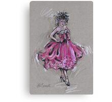 The Pink Dress or El Vestido Rosa Canvas Print