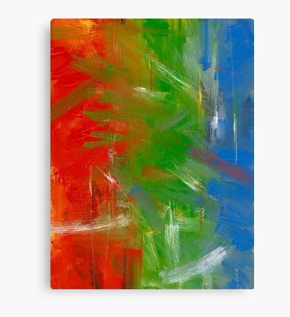 Red Green and Blue Canvas Print