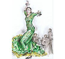 Green Flamenco or Flamenco Verde Photographic Print
