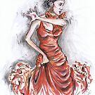 Red Flamenco or Flamenco Rojo by Jill Bennett