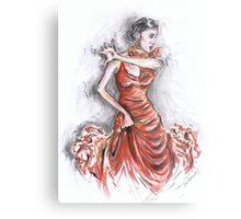 Red Flamenco or Flamenco Rojo Metal Print