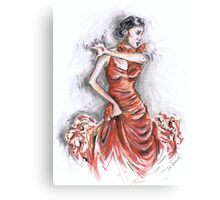 Red Flamenco or Flamenco Rojo Canvas Print
