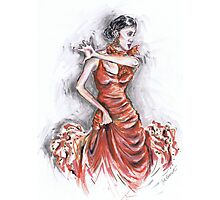 Red Flamenco or Flamenco Rojo Photographic Print