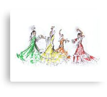 Flamenco in Colour or Flamenco en Color Canvas Print