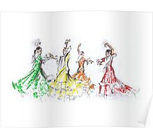 Flamenco in Colour or Flamenco en Color Poster