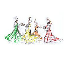 Flamenco in Colour or Flamenco en Color Photographic Print