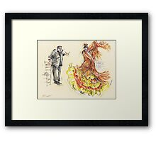 The Pain and the Passion II or La Peña y La Pasion II Framed Print
