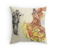 The Pain and the Passion II or La Peña y La Pasion II Throw Pillow
