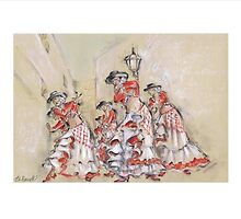 Flamenco in the Street or Flamenco Por La Calle by Jill Bennett