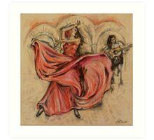 Flamenco Rapido Art Print