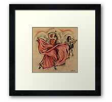 Flamenco Rapido Framed Print