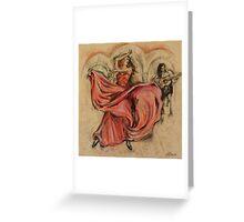 Flamenco Rapido Greeting Card
