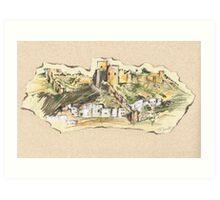 Almería Castle or Alcazaba de Almería Art Print