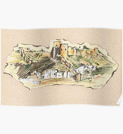 Almería Castle or Alcazaba de Almería Poster