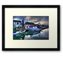Cesenatico Fishing Harbour  Framed Print