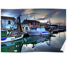 Cesenatico Fishing Harbour  Poster