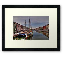 Leonardo da Vinci's Harbour - Cesenatico Framed Print