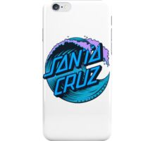 Blue Santa Cruz Wave Logo iPhone Case/Skin