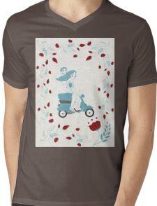 vespa couple Mens V-Neck T-Shirt