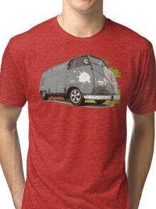 VW Split screen - Green Paint Splash Tri-blend T-Shirt