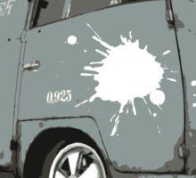 VW Split screen - Green Paint Splash Sticker