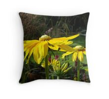 Golden Flowers Throw Pillow