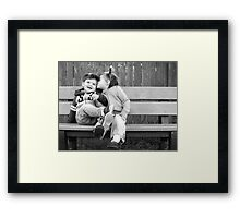 Laughter and kisses Framed Print