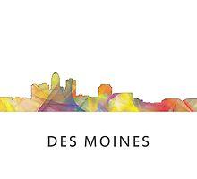 Des Moines, Iowa Skyline WB1 by Marlene Watson