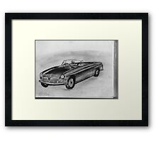 1963 MGB - Classic Car Framed Print