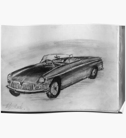 1963 MGB - Classic Car Poster