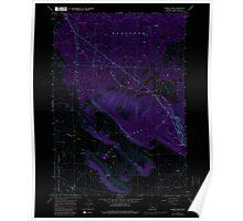USGS Topo Map Oregon Horse Ridge 280247 1967 24000 Inverted Poster