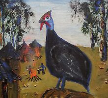 King Guinea-Fowl by Pieter Oosthuizen