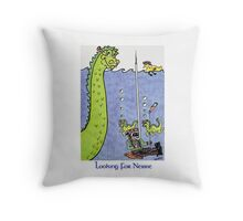 Looking for Nessie Throw Pillow