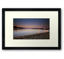 Luci del porto all'alba Framed Print
